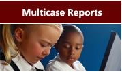 Multicase Reports: Papers on topics such as professional development, leadership, instructional practices, and student outcomes that analyze at the schools studied.